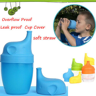 Food Grade Safety Silicone Soft Sippy Cup Spill Leak Proof For Lid Toddler Baby