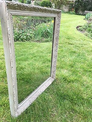 Antique bevel edge mirror with lovely painted frame