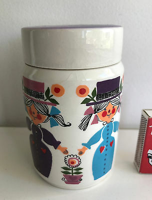 W. Goebel West Germany amazing people canister 1960s retro vintage