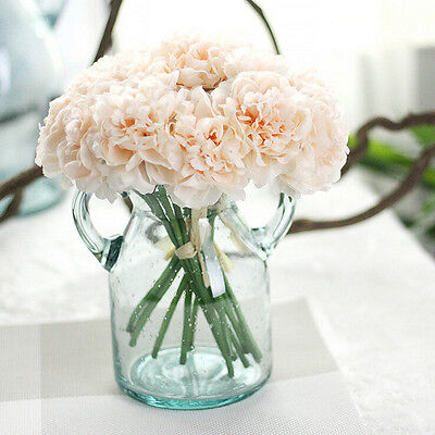 Artificial Silk Fake Flowers Peony Floral Wedding Bouquet Bridal Hydrangea CA