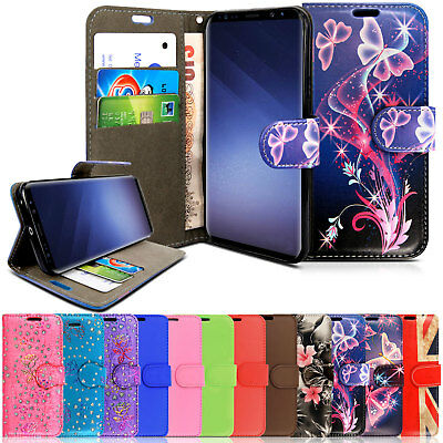 Case For Samsung Galaxy S6 S7 S8 Plus J5 A6 Flip Leather Wallet Stand Case Cover