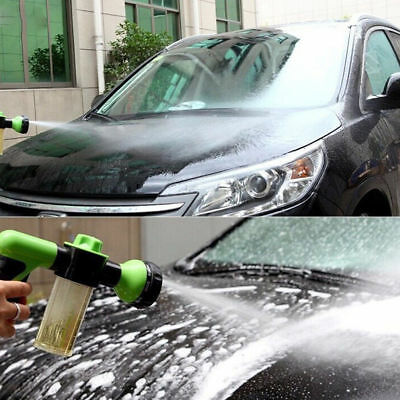 Green Jet Spray Washing Gun Soap Dispenser Watering Hose Nozzle Car Garden Tool