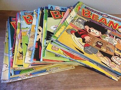 Job Lot Of THE BEANO COMICS  -  43 Comics From The Year 1999