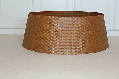 Christmas Festive Xmas Brown Wicker Style Sleeve Xmas Tree Skirt / Nest Cover