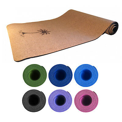 Yatay Cork TPE Non-Slip Exercise Fitness Yoga Mat 5mm