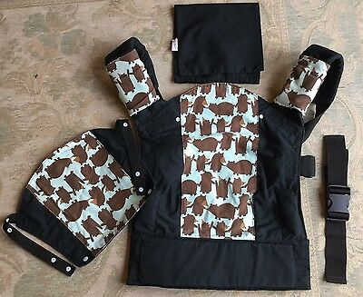 Rose And Rebellion Baby Carrier / sling. Bear Print With Extras RRP £90
