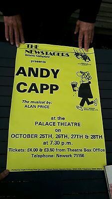 Vintage andy capp theatre poster