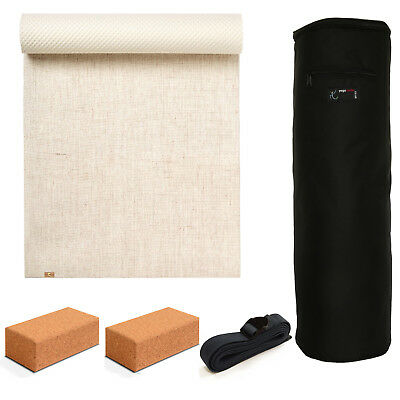 Yoga Studio - EcoYoga Starter Kit - 2x Cork Bricks & Strap - Various Colours