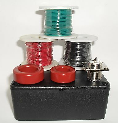 Toroid T106-2, T130-2, SO239, Box, 22awg Red Green Black Solid Wire