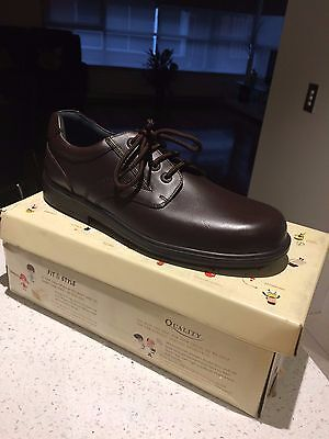 new men''s brown leather shoes ,size 12