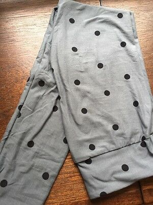 Lularoe leggings One Size OS Gray With Black Polka Dots