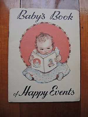 State Savings Bank of Victoria Baby's book of happy events 1950's Very RARE item