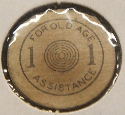 Oklahoma Sales Tax Token~~For Old Age Assistance