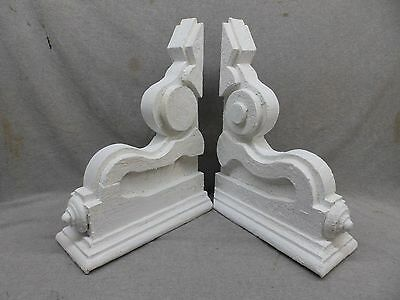 Antique Pair Wood Corbels Shabby Cottage Chic Vintage 440-17R