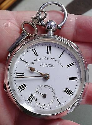 "Antique  Solid Silver1909 H.samuel""the Climax Trip Action""  Patent  P/watch"