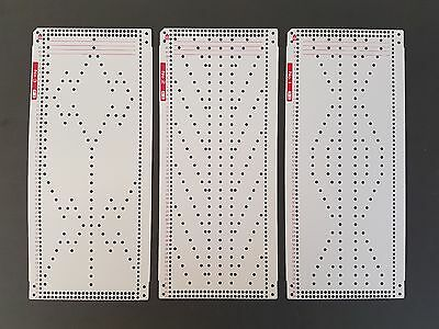 10 x Punchcard patterns for 24st Knitting machine Unknown Brand Cards 1 - 10