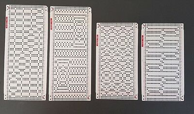 10 x Punchcard patterns for 24st Knitting machine Unknown Brand Cards  351 - 360