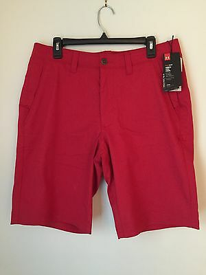 NWT Under Armour Hear Gear Loose Fit Flat Front Shorts Men's Size 34