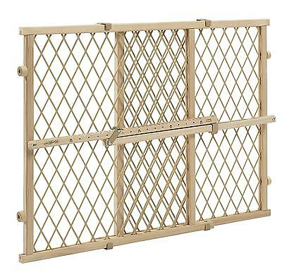Evenflo Position and Lock Wood Gate Non Marking Pressure Barrier Kids Pets NEW