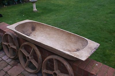 Large Wooden French Dough Trough - Collection From Exeter