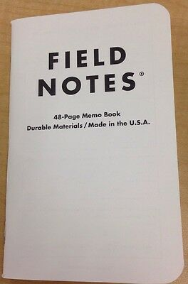 Field Notes Humanity edition 2016 notebook