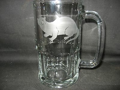 New Etched River Otter Glass Root Beer Mug