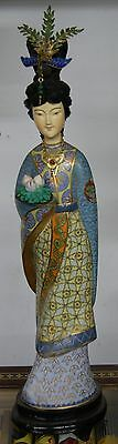 Large Chinese Cloisonné Figure Princess