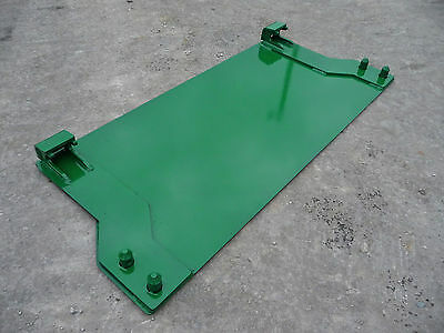 John Deere Tractor Loader 200 300 400 500 Weld On Blank Mount Plate - Free Ship!