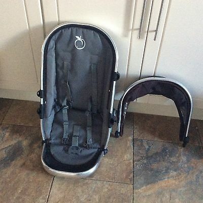 i candy peach 1 Upper Main  seat unit with hood and harness  brown colour