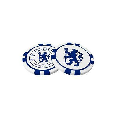 Official Licensed Football Product Chelsea Poker Chip Ball Markers 2 Pack Crest