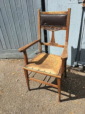 Arts And Crafts Vintage Oak Chair