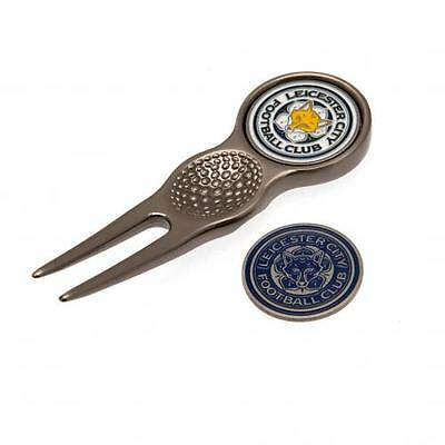 Official Licensed Football Product Leicester City Divot Tool & Marker Golf Gift