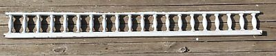 """Antique 99"""" Wood Porch Span Spindles White Old Victorian Gingerbread 238-17E"""
