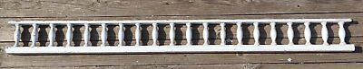 "Antique 99"" Wood Porch Span Spindles White Old Victorian Gingerbread 239-17E"