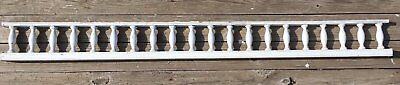 "Antique 99"" Wood Porch Span Spindles White Old Victorian Gingerbread 240-17E"