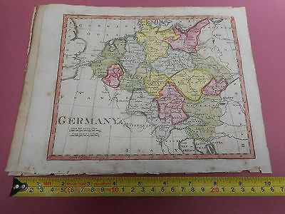 100% Original Germany Map By Lawson Halifax C1812 Vgc Original Colour