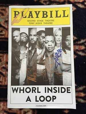 Whorl Inside A Loop Cast Signed Playbill