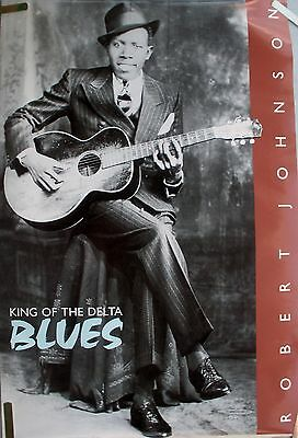Rare Robert Johnson 1986 Vintage Orig King Of Delta Blues Guitar Music Poster