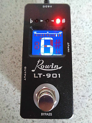 Rowin Lt-901 Mini Chromatic Pedal Tuner With True By-Pass