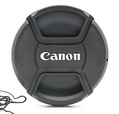 LC77  Centre Pinch Front Lens Cap for canon  77mm filter thread Snap-on UK STOCK