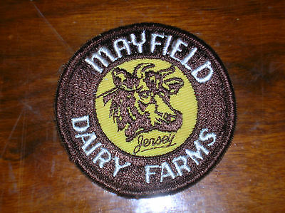 Rare ~ Vintage Mayfield Dairy Farm Milk Cow Patch/Badge ~ WOW