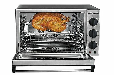 Electric Convection Oven Rotisserie Stainless Steel Commercial Countertop 42L