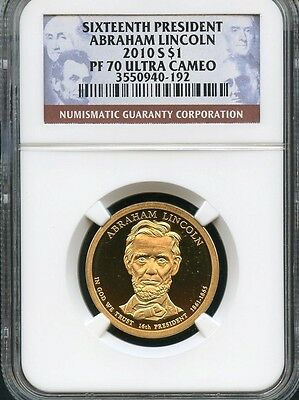 2010 S Presidential Dollar Abraham Lincoln NGC PF70 Ultra Cameo