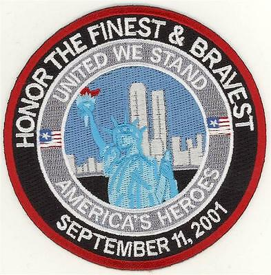 """91101 Honor the Bravest and Finest Patch (4"""")"""