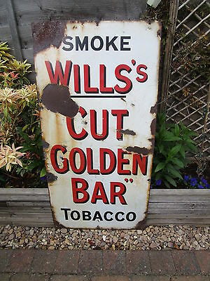 Rare vintage 1912 Wills'tobacco enamel shop Sign not bad condition for age clean