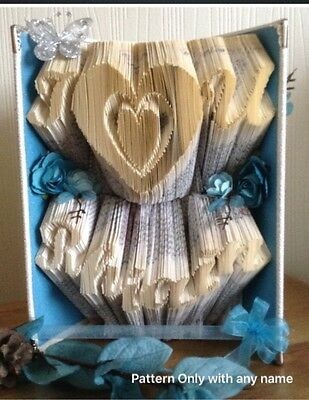 Book Folding Pattern I Luv U Any Name  (Multi  Line Mark And Fold) Pattern Only)