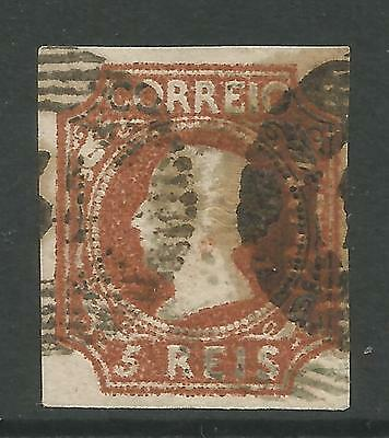 PORTUGAL. 1853. 5r Red-Brown Queen Maria II Definitive. 4 Marg. SG: 1. Fine Used