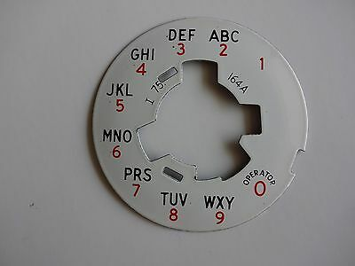 Western Electric telephone dial plate porcelain 164A Nice