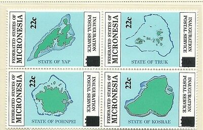 1986 Surcharges Block of 4 set of 4  Complete MUH/MNH as Issued