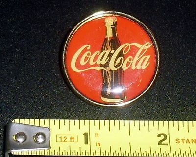 Vintage Coca-Cola Bottle Metal Red & Gold Retro Pin Free S&h Nice Cond!!m
